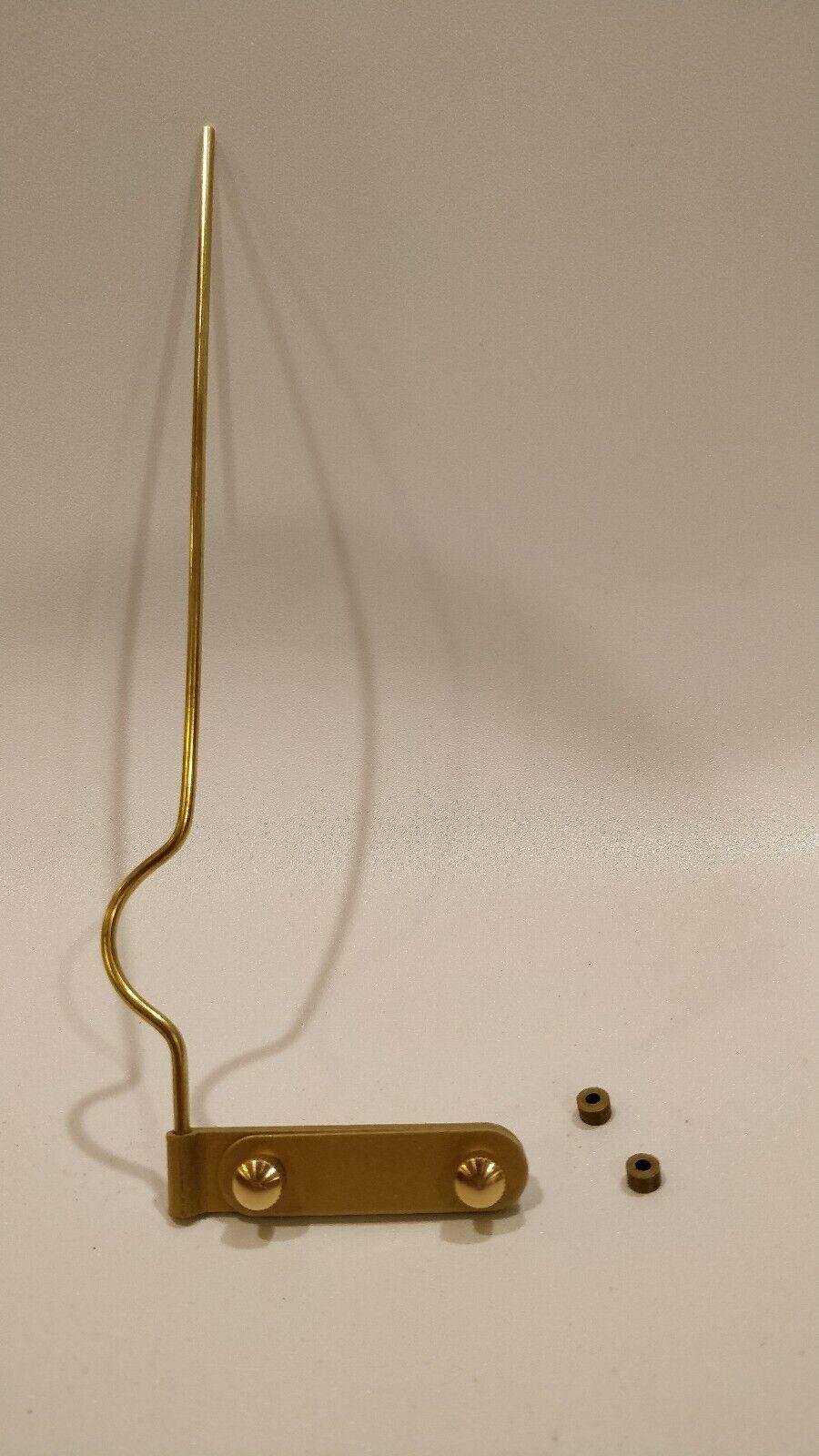 "DeArmond pickup /""monkey on a stick/"" pressure mount reproduction gold color"