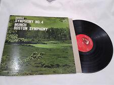 Munch Boston Symphony LP Dvorak Symphony No 4 RCA Victor Shaded Dog Red Seal