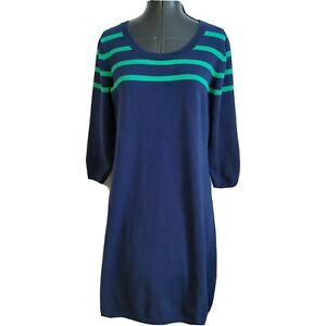 Rafaella Size Med Drawstring Waist Stripe T-Shirt Dress Cover Up 3 Color Choices