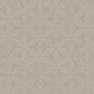 Geometrique-Etoile-Papier-Peint-Dore-Taupe-Holden-Decor-12619-Metallique