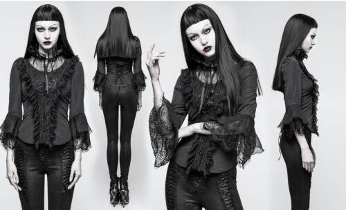 Y Rave Lolita Gothic Shirt Spitze Punk Steampunk 795 Schnürung Bluse Victorian qTFnUnEdxw