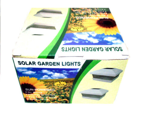 Solar Power Path Deck Post Cap Light Fence Mount Lamp White 5x5