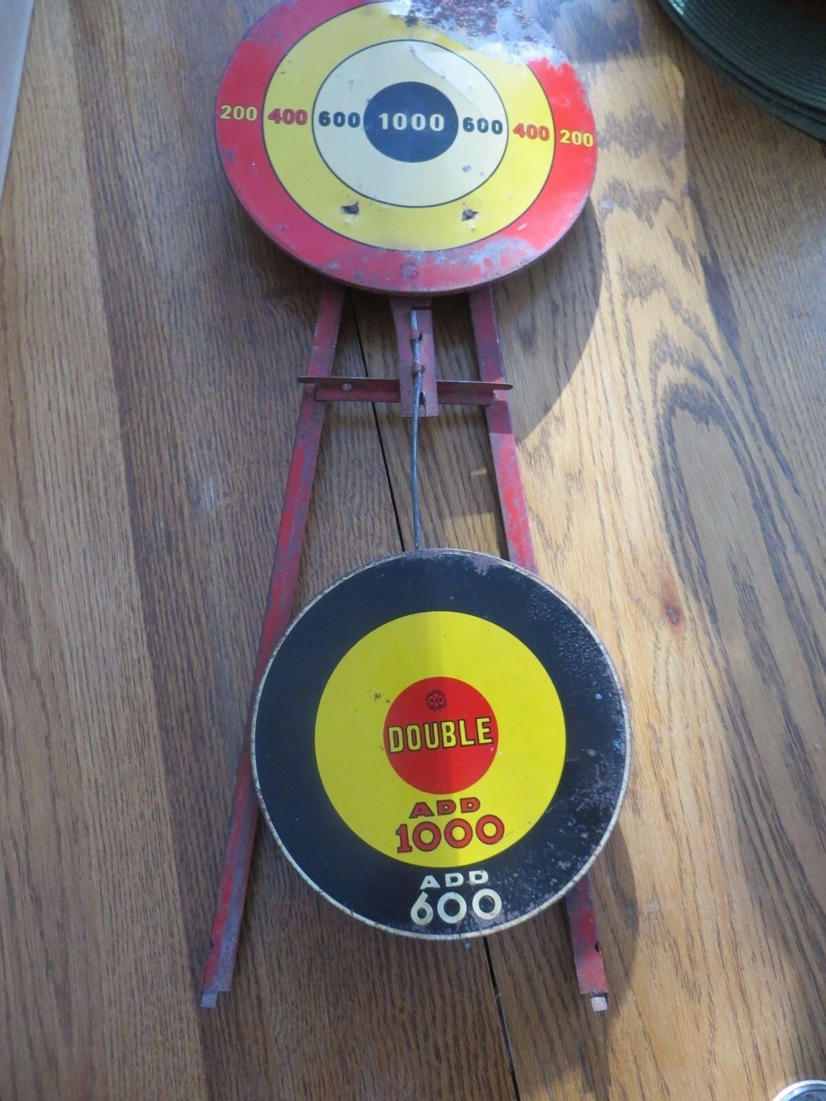 M.A.R.toys swinging bullseye metal toy antique shooting target gallery