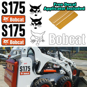 Details about Bobcat S175 Skid Steer Set Vinyl Decal Sticker 5 PC SET +  FREE DECAL APPLICATOR