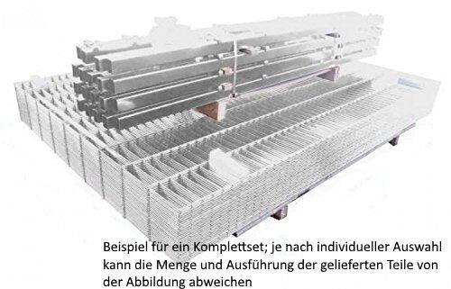 Doppelstab Mattenzaun Set Verzinkt 183cm hoch 50m lang //// Zaunpfosten Gartenzaun