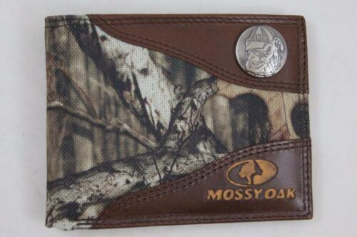 ZEP PRO Georgia Bulldogs MASCOT Mossy Oak Camo Leather Bifold Wallet Tin Box