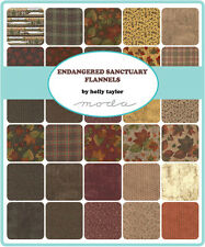 "Endangered Sanctuary  FLANNEL 1 Charm Pack Quilt Fabric  42  5"""