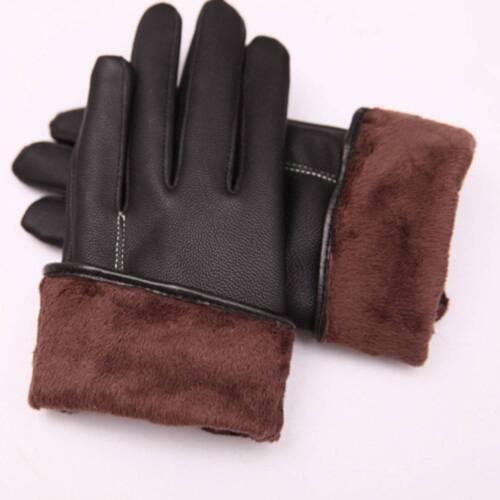 Women/'s Winter Warm Black Leather Gloves Touch Screen Mittens Useful beauty