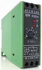BTR Netcom RSDw Zeitrelais Time Relay 24V 230V 3...60sec LED-Anzeige Relais