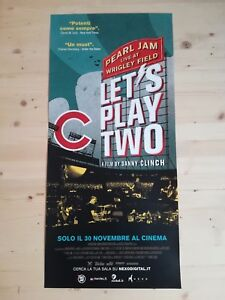 PEARL-JAM-LET-039-S-PLAY-TWO-Original-Music-Movie-Poster-12x27-LIVE-AT-WRIGLEY-FIELD