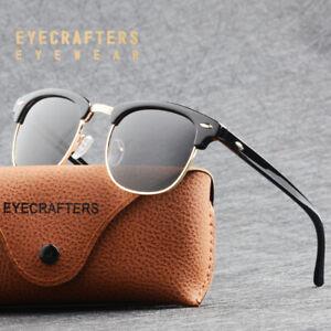 2ae72c6a738d3 Image is loading Half-Frame-Semi-Rimless-Polarized-Sunglasses-Unisex-Retro-