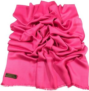 Hot Pink Solid Colour Design Nepalese Shawl Scarf Wrap Pashmina CJ Apparel *NEW*