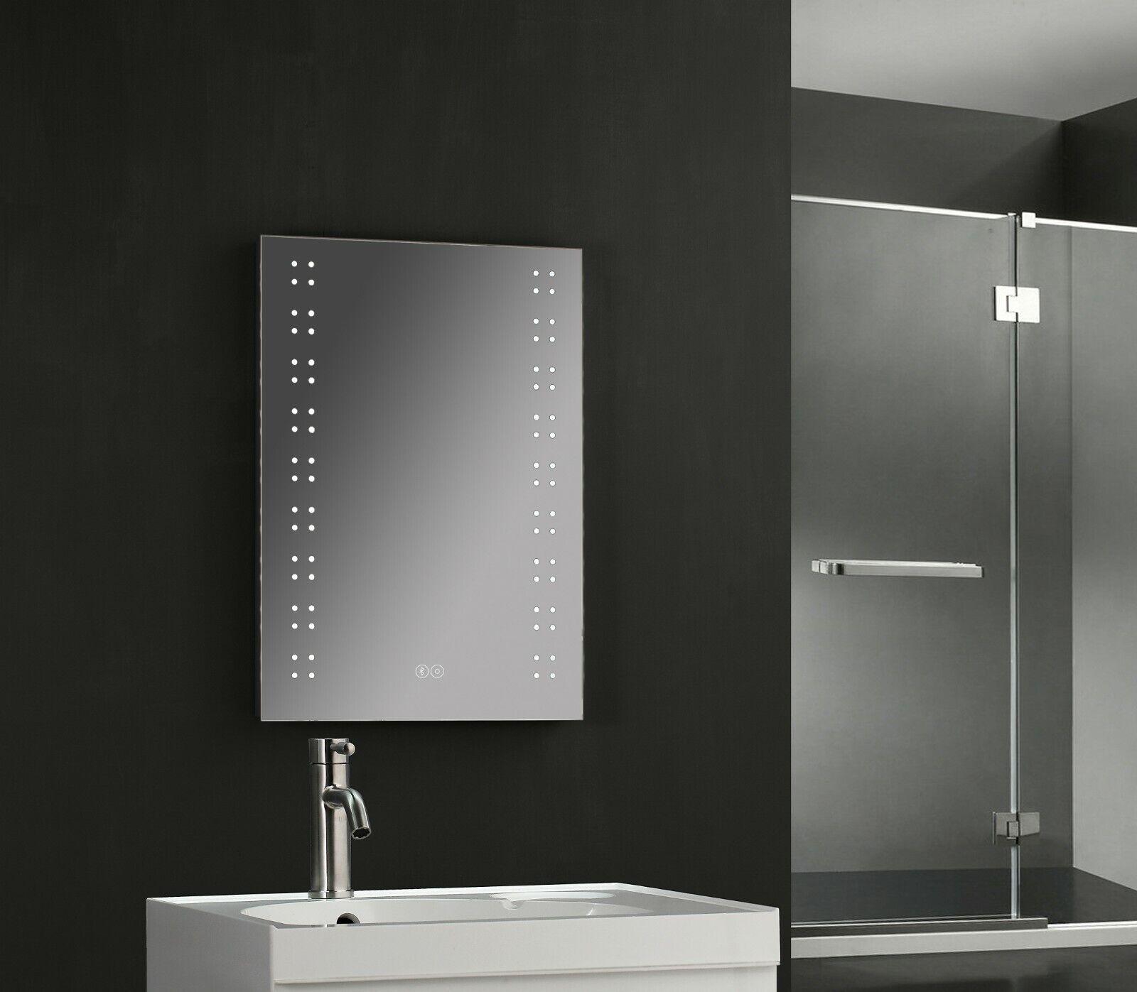 700 x 500mm Illuminated Bathroom LED Mirror , Demist & Shaver