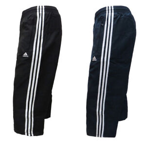 Mens Adidas 3 4 Track Pants Sports Training Running Holiday Zip ... 7efd884e68a6
