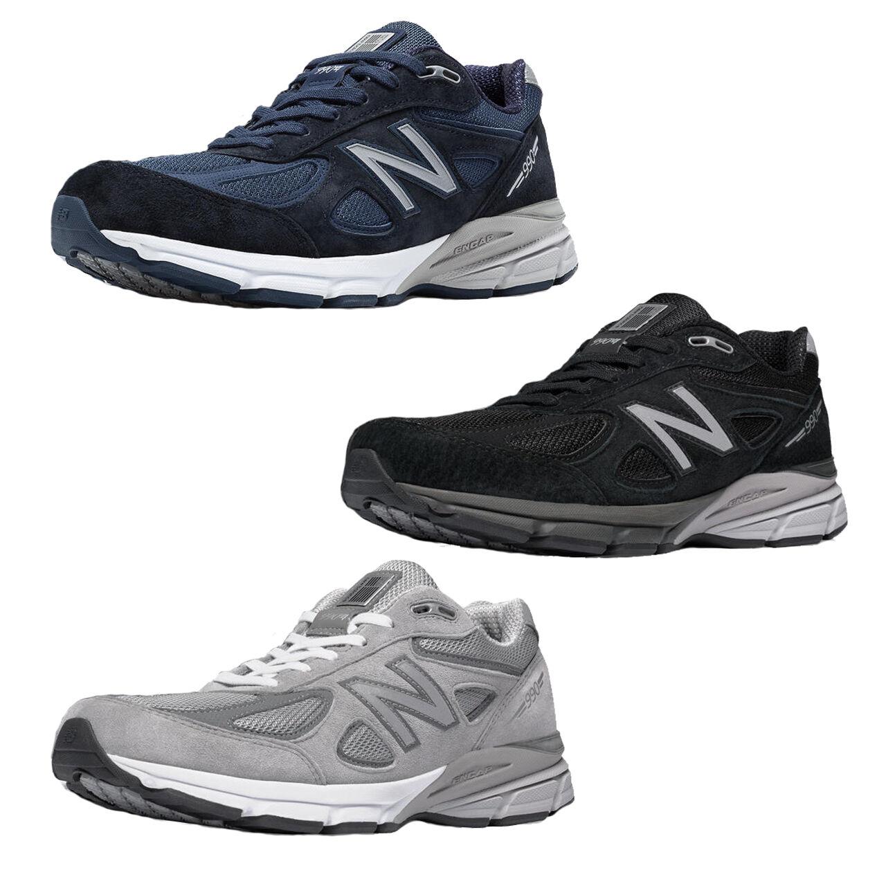 Men's New Balance M990v4 Running shoes M990NV4 M990BK4 M990GL4 D thru 6E USA Made
