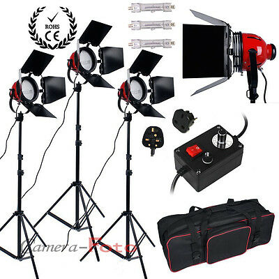 2400W Red Head Continuous Lighting Kit Set for Video Shoot 3x800W Redhead Dimmer