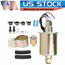 New Universal Low Pressure In Line Electric Fuel Pump & Installation Kit E8016S