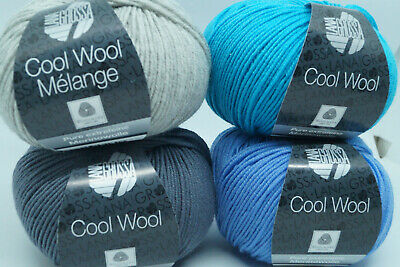 Lana Grossa Cool Wool Melange 137 dunkelblau//beere meliert 50g Wolle Kreativ
