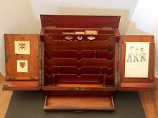 1800's Antique Traveling Gentleman's Secretary's Desk St Paul's College Sydney
