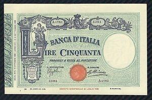 Banconota-50-LIRE-BARBETTI-L-TESTINA-con-Matrice-16-10-1935-Periziata-qFDS