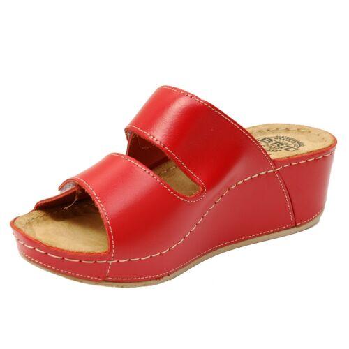 Dr Rouge Femme Rosso En Sabots Sandales D112 Cuir Bril Punto Pantoufles Sabots Mules wrIq7r