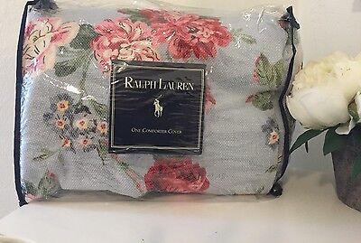 NEW RARE Vintage Ralph Lauren Danielle Blue Duvet Cover ~ Shabby Cottage Chic ~