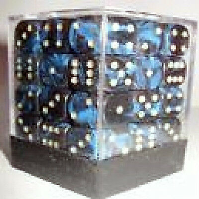 PACK OF 36 OBLIVION BLUE DICE- 6 SIDED WITH 12mm SIDES!