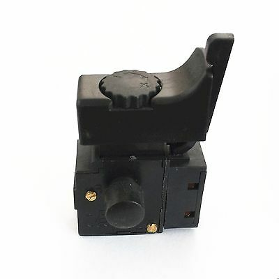 1)Black 250VAC 6A Lock On FA2-6/1BEK Electric Drill Trigger Switch Speed Control
