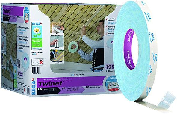 Siga Twinet 3 Rollen doppelseitig klebeband dampfbremse