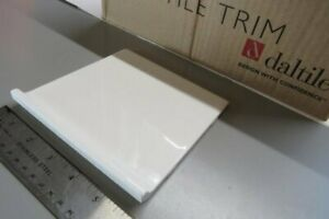 details about arctic white gloss daltile bullnose coving tile base trim subway 6 ceramic wall