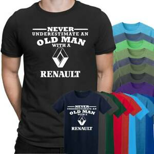 93227f7d Renault Never Underestimate an Old Man Mens T Shirt Size S - 5XL ...