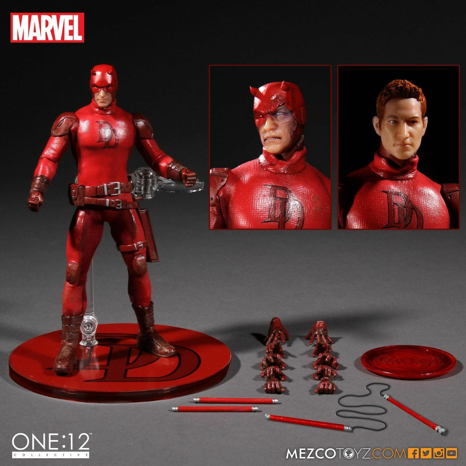 MEZCO MARVEL LEGENDS MISB DAREDEVIL 6  FIGURE ONE 12 COLLECTIVE