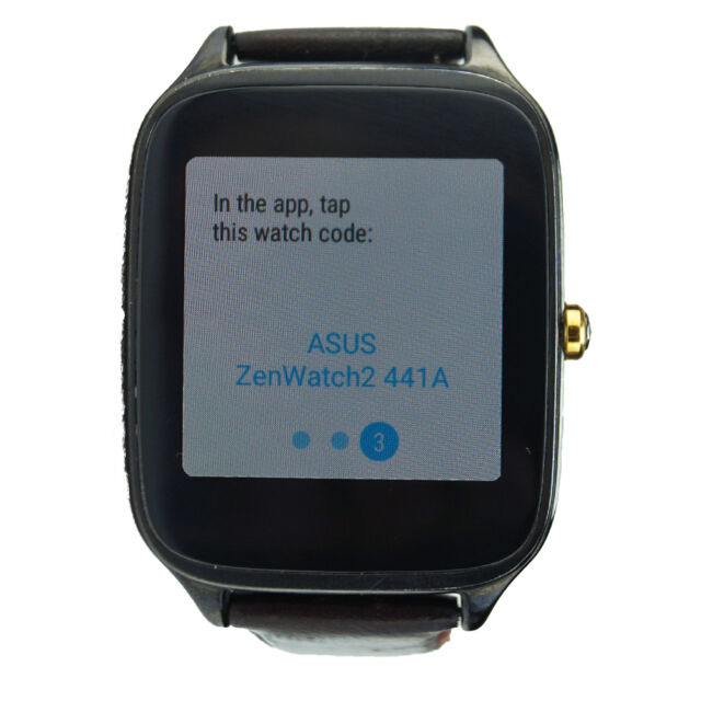 Asus ZenWatch 2  Smartwatch  Leather Brown Band Smart Watch