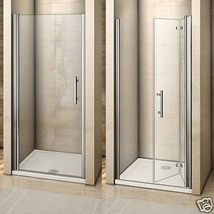 Image Is Loading Frameless Pivot Bifold Shower Enclosure Door Gl Screen