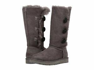 8da53fa0600 Details about Women's Shoes UGG Bailey Button Triplet II Boots 1016227 Grey  *New*