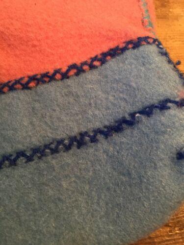 felpa con Pantofole blu cotta rosa e innestate disegno e 100 in a mano lana 16qqE4w5n
