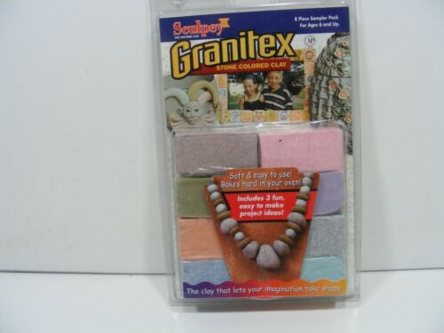 Sculpey III Granitex Stone Colored Sculpting Clay.8 Pack.BRAND NEW SEALED