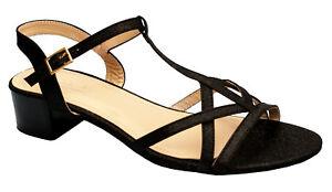43 Femme 1 Croisées 42 41 Talon Sandales Sur Détails Noir Lanières Mules Dm1522 Chaussures bYy76gf