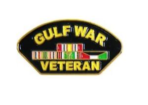 1 1//4 inch 14233 Gulf War Veteran with Ribbons Lapel Pin Licensed HMC