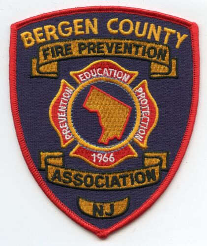 BERGEN COUNTY NEW JERSEY NJ Fire Prevention Association FIRE PATCH