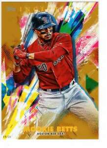 Mookie Betts 2020 Topps Inception 5x7 Gold #97 /10 Red Sox
