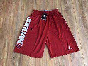 Nike Air Jordan Go 23 Basketball Shorts Red Grey Dri-Fit 838979 687 M NEW