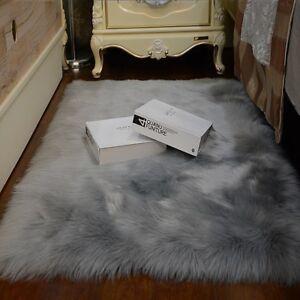 Faux Fur Natural Shape Rugs Sheepskin Bedroom Sofa Mat Carpet Balcony Area Rugs