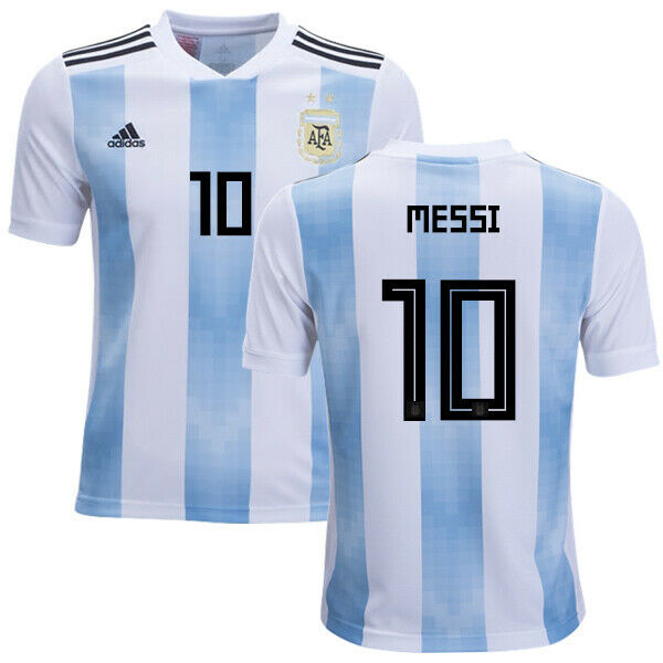 887a055cf adidas Argentina Authentic 2018 Home Soccer Football Jersey L for sale  online | eBay