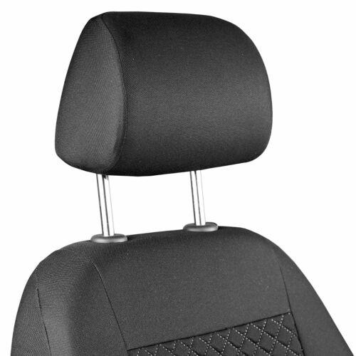 Fundas de Asientos Delanteros Para AUDI TT Color Negro Rejilla Cosida