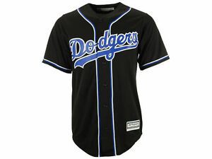 MLB Los Angeles Dodgers Men s Cool Base Custom Black   Royal ... fac1dbb49