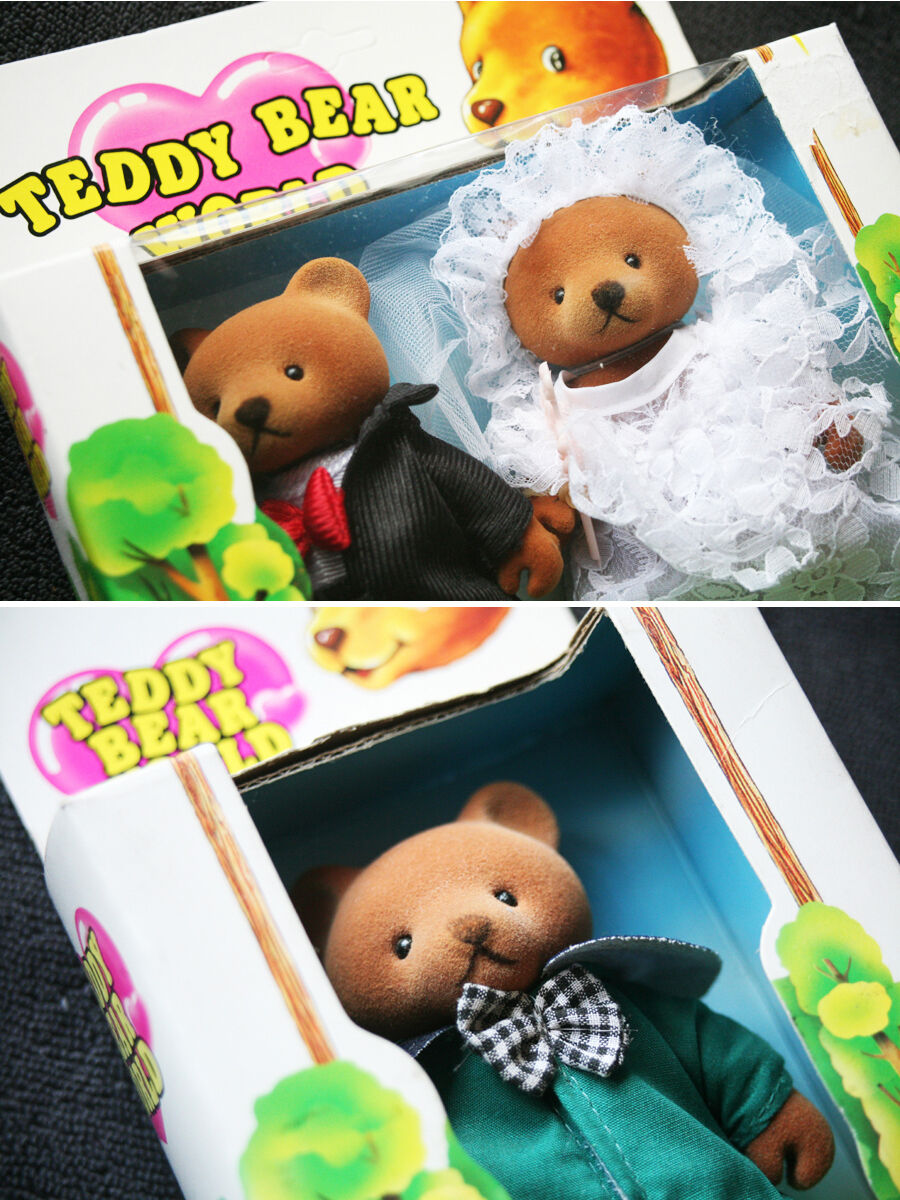 3 TEDDY BEARS  NOVIOS (BODA) SUPER RAROS  (OSO) BRAND NEW IN BOXES OLD STOCK