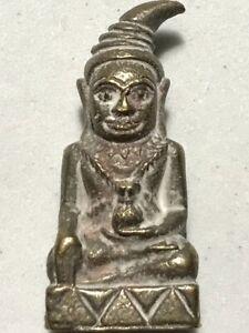 PER CHARM PHRA LP RARE OLD THAI BUDDHA AMULET PENDANT MAGIC ANCIENT IDOL#15