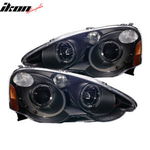 Fits-02-04-Acura-RSX-Projector-Headlights-Halo-Black-Clear-amp-Led