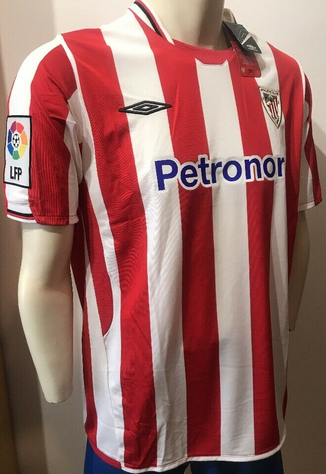 CAMISETA SHIRT UMBRO 09 10 XL ATHLETIC CLUB BILBAO NUEVA  CENTENARIO MACH WORN